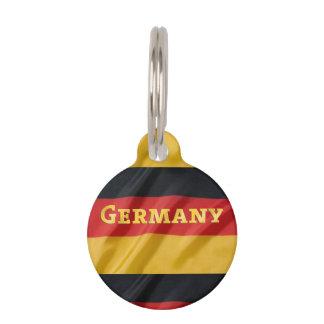 Deutschland-Flagge Haustiermarke