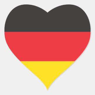 DEUTSCHLAND-FLAGGE Herz-Aufkleber