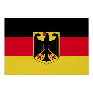 Deutschland-Flagge Poster