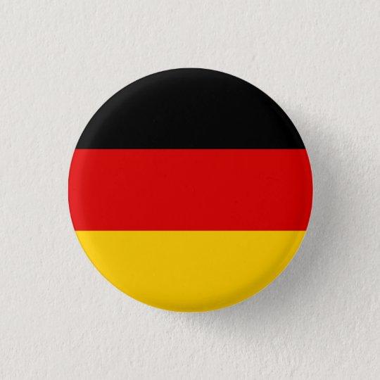 Deutschland Flagge Runder Button 3,2 Cm