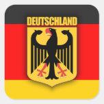Deutschland-Flagge und Wappen Aufkleber