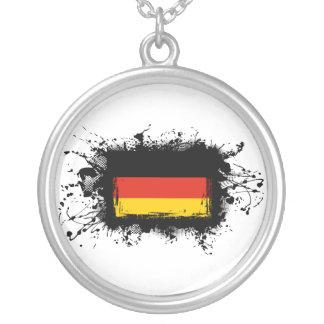 Deutschland-Flagge Versilberte Kette