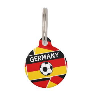 Deutschland-Flaggen-Fußball Tiernamensmarke