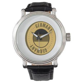 Deutschland-Flaggen-Goldmünze Armbanduhr