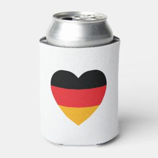 Deutschland-Flaggen-Herz kann cooler Dosenkühler