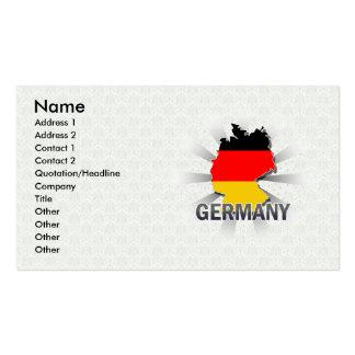 Deutschland-Flaggen-Karte 2 0 Visitenkarten Vorlage