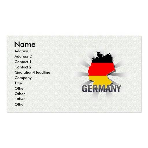 Deutschland-Flaggen-Karte 2,0 Visitenkarten Vorlage
