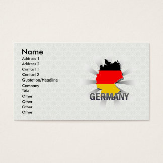 Deutschland-Flaggen-Karte 2,0 Visitenkarten