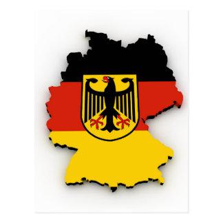 Deutschland-Flaggen-Karte Postkarte