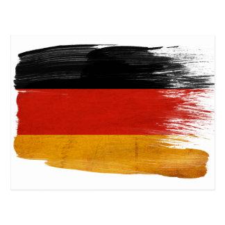 Deutschland-Flaggen-Postkarten Postkarte