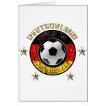 Deutschland Fussball Flagge Vier Sterne Grußkarte