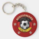 Deutschland Fussball Flagge Vier Sterne Schlüsselanhänger