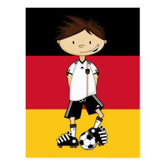Deutschland-Fußball-Jungen-Postkarte Postkarte