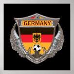 Deutschland-Fußball-Plakat