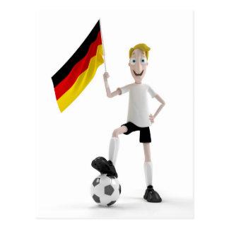 Deutschland-Fußball Postkarte