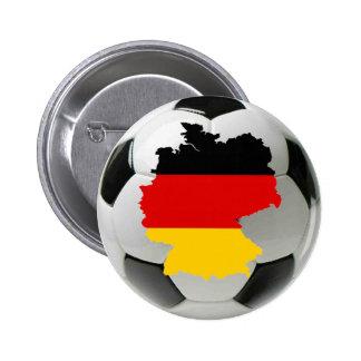 Deutschland-Fußball Runder Button 5,7 Cm