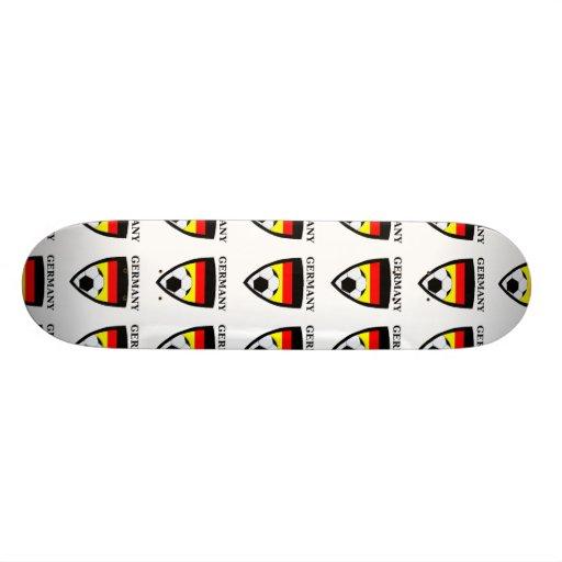Deutschland-Fußball Bedrucktes Skateboard