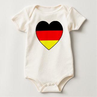 """""""Deutschland-Herz"""" Babybody Bio Fussball WM Baby Strampler"""
