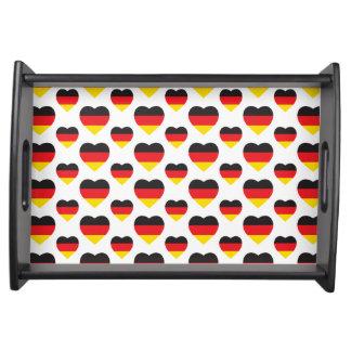 DEUTSCHLAND-HERZ-FORM-FLAGGE SERVIERTABLETT