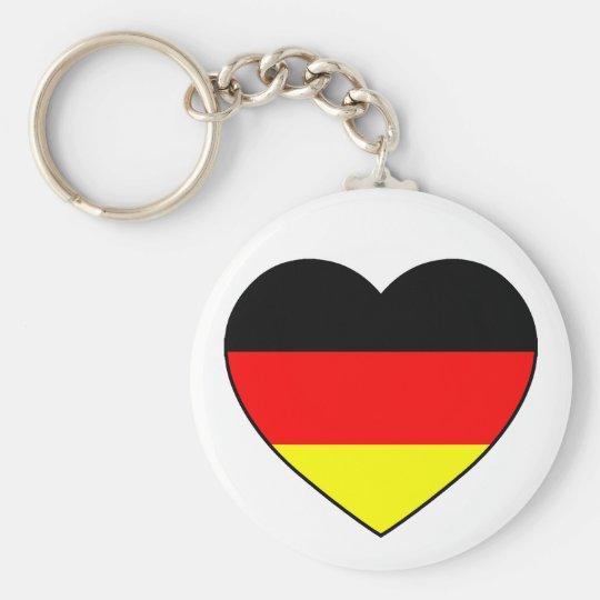 """Deutschland Herz Fussball Anhänger """"Germany"""" Schlüsselanhänger"""