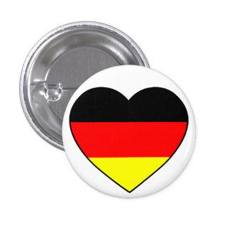 Deutschland Herz Fussball Germany Runder Button 3,2 Cm