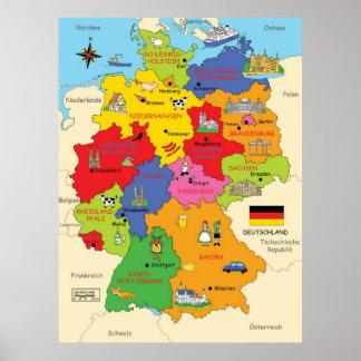 Deutschland-Karte Poster
