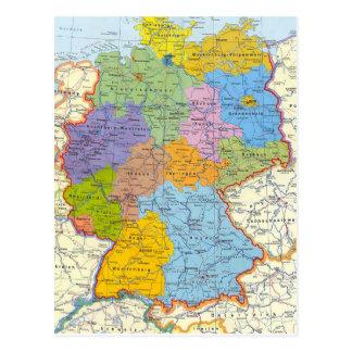 Deutschland-Kartenkarte 3 Postkarte