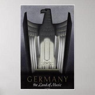 DEUTSCHLAND - LAND von MUSIK 1938 Poster