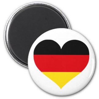 Deutschland-Liebe Runder Magnet 5,7 Cm