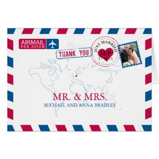 DEUTSCHLAND-Luftpost-Hochzeit danken Ihnen Mitteilungskarte