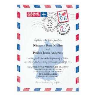 Deutschland-Luftpost-Hochzeits-Einladung 12,7 X 17,8 Cm Einladungskarte