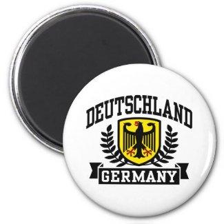 Deutschland | Runder Magnet (weiß)
