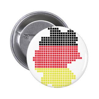 Deutschland-Pixelflagge Runder Button 5,1 Cm