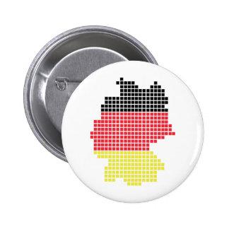 Deutschland-Pixelflagge Runder Button 5,7 Cm