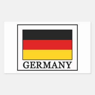 Deutschland Rechteckiger Aufkleber