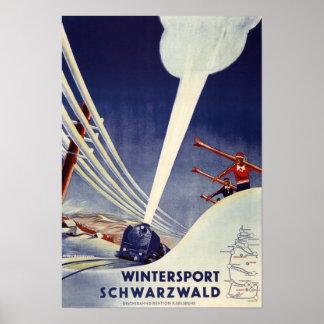 Deutschland - Skifahren im Schwarzwald Poster