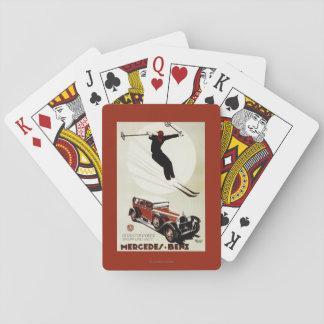 Deutschland - Skifahrer-Springen Pokerkarte