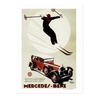 Deutschland - Skifahrer-Springen Postkarte