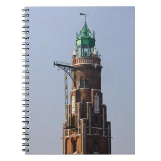 Deutschland, Staat von Bremen, Bremerhaven. Hafen Spiral Notizblock