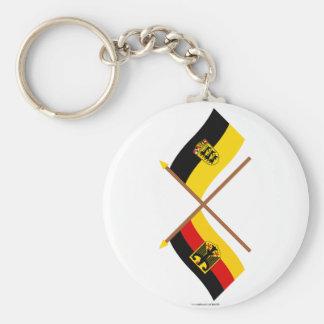Deutschland u. Baden-Württemburg Flaggen, gekreuzt Standard Runder Schlüsselanhänger