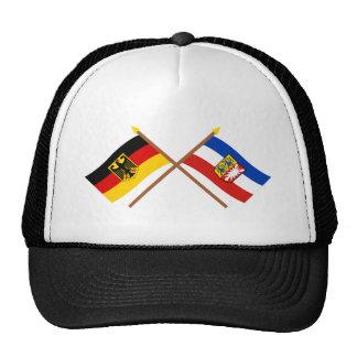 Deutschland u Schleswig-Holstein Flaggen gekreuz