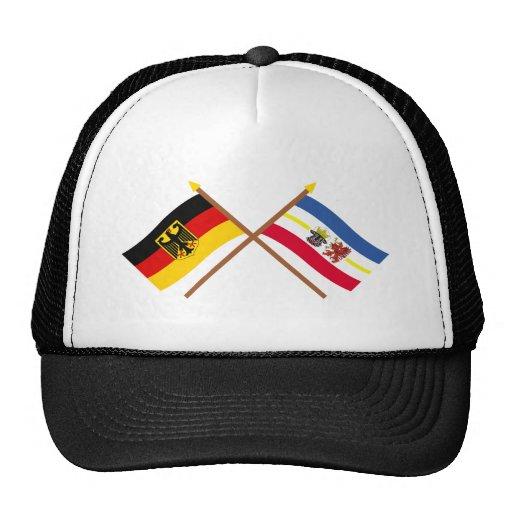 Deutschland und Mecklenburg-Vorpommern Flaggen Baseballcap