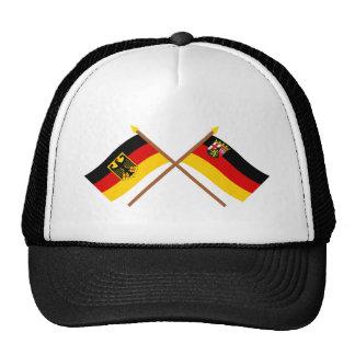 Deutschland und Rheinland-Pfalz Flaggen gekreuzt