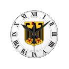 Deutschland-Wappen Runde Wanduhr