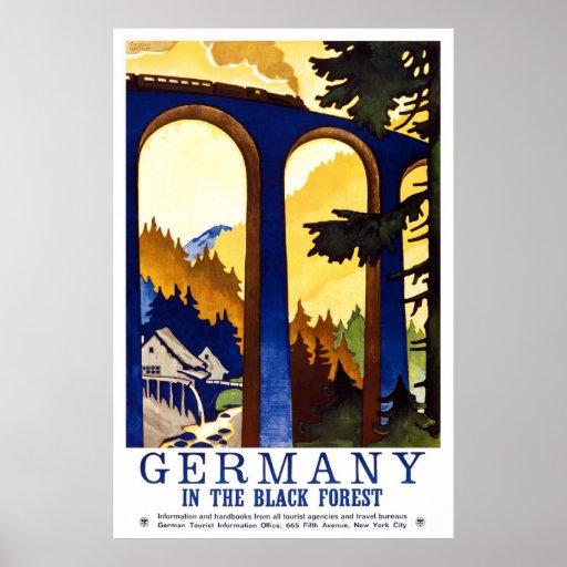 """""""Deutschlands schwarzer Wald"""" Vintages Reise-Plaka Posterdrucke"""