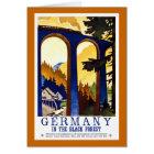Deutschlands schwarzer WaldVintages Reise-Plakat Karte