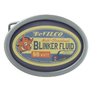 DeVilCo Blinker-Flüssigkeit Ovale Gürtelschnallen