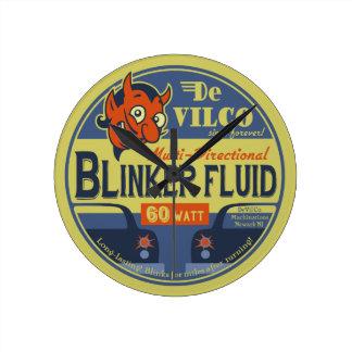 DeVilCo Blinker-Flüssigkeit Runde Wanduhr
