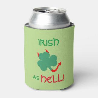 Devilish irisches Kleeblatt tut eine Dosenkühler