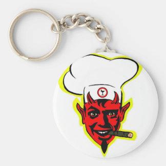 Devilish Koch Standard Runder Schlüsselanhänger